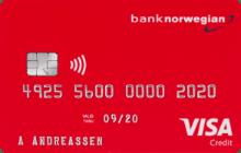 Kredittkort fra Norwegian med flybonus.