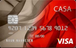 Casa Kredittkort har gunstige vilkår.