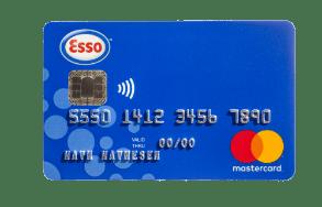 Bensinkort fra Esso.