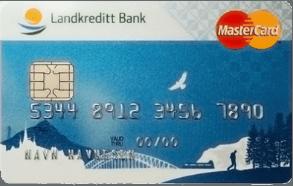 Kredittkort fra Landkreditt Bank.