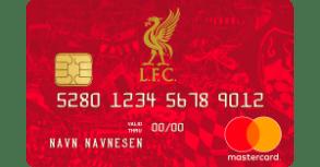 Kredittkort med gunstige tilbud til Liverpool-supportere.