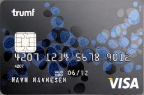 Kredittkort med Trumf-poeng.