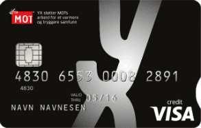YX VISA er et bensinkort.